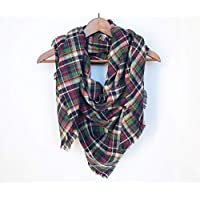Spring Plaid Blanket Scarf Cotton Birthday Gift