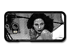AMAF ? Accessories Jennifer Lopez Black and White Fifties Portraits on the Beach case for HTC One M8 by ruishername