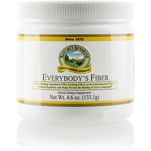 Natures Sunshine Everybody's Fiber, 4.6 oz. | Promotes Bowel Regularity, Waste Removal, and Digestive Health with Herbal Ingredients