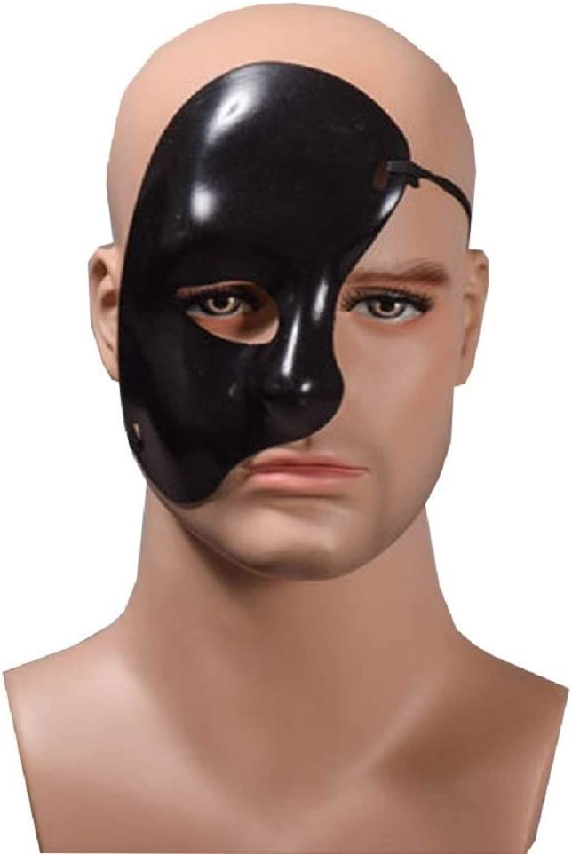 KIRALOVE Media máscara Facial - Fantasma de la ópera - Color Negro ...