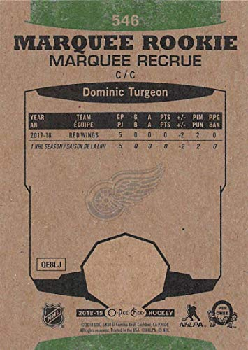 1ec746c0904 Amazon.com  2018-19 O-Pee-Chee Retro  546 Dominic Turgeon Detroit Red Wings  (18-19 UD OPC Hockey Card)  Collectibles   Fine Art