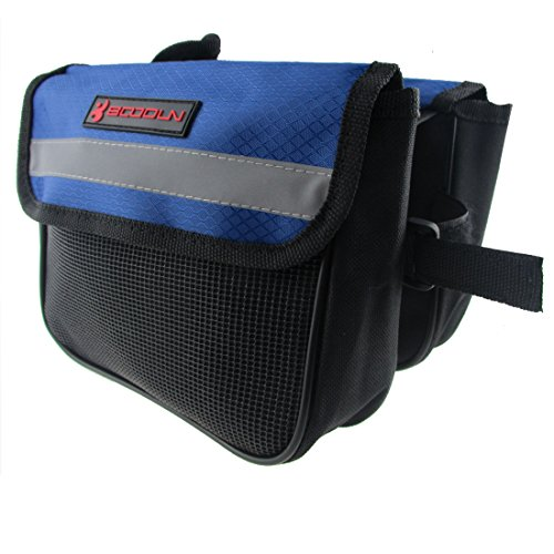 Triangle Cycling Bike Bicycle Front Tube Frame Pouch Bag(Blue) - 8