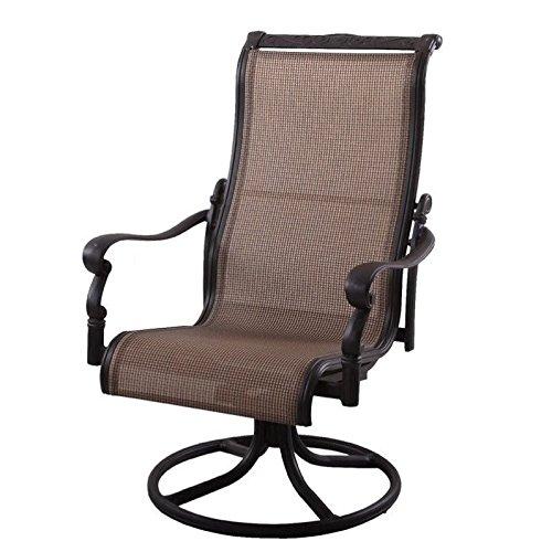 Amazon Com Darlee Monterey Swivel Patio Dining Chair In Antique Bronze Set Of 2 Garden