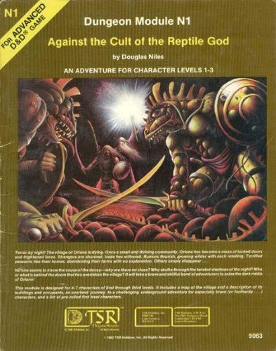 Against the Cult of the Reptile God: An Adventure for Character, Levels 1-3 (Advanced Dungeons & Dragons Module, No. N1) (Dungeon And Dragons Modules compare prices)