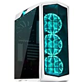 SilverStone Technology Gaming ATX Tower Computer Case with Tempered Glass and RGB Lighting in White PM01W-RGB