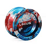 MAGICYOYO Responsive Yoyo Ball V6 LOCUS Blue Red Silver Alloy Yoyo for Kids Beginners with Bag Glove 5 Strings