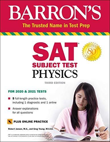 SAT Subject Test Physics with Online Test (Barron
