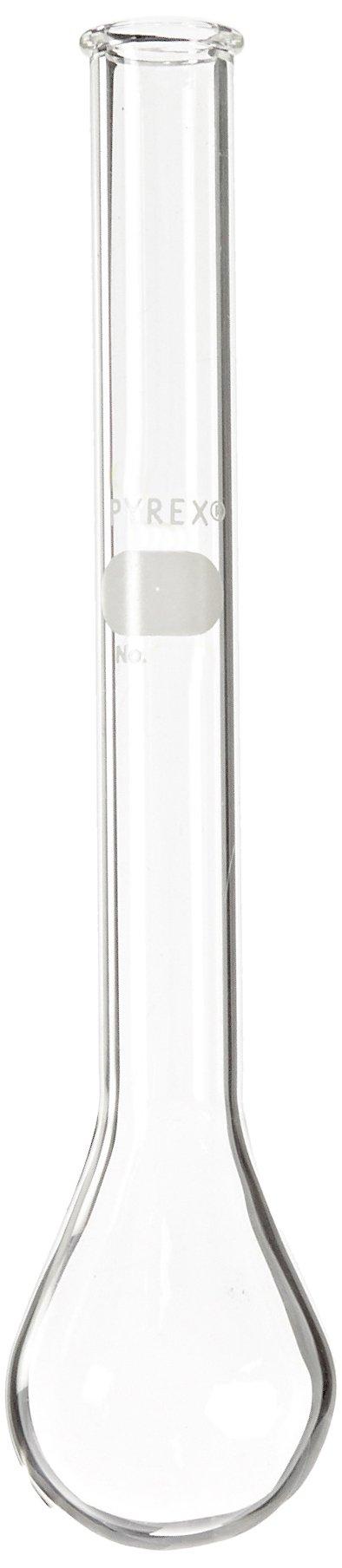 Corning Pyrex Borosilicate Glass Round Bottom Micro Kjeldahl Flask with Long Neck, 30ml Capacity (Case of 18)