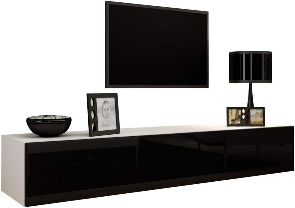 Modern Manhattan TV STAND LED 140cm Cabinet Unit HIGH GLOSS 4 COLOURS