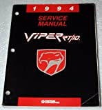 1994 Dodge Viper RT/10 Service Manual (SR Platform, Complete Volume)