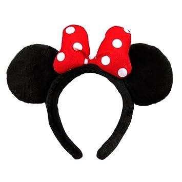 Amazon カチューシャ ミニー マウス 布地 赤 ミニ リボン
