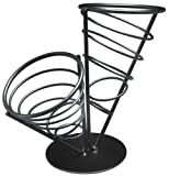 American Metalcraft FCB22 Wrought Iron 2-Cone Conical Bread Basket, 9-1/2-Inch