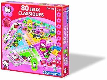 Clementoni 62539 Hello Kitty - Caja de Juegos de Mesa clásicos (80 Juegos, en francés): Amazon.es: Juguetes y juegos