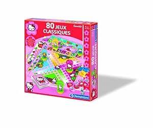 Clementoni 62539 Hello Kitty - Caja de juegos de mesa clásicos (80 juegos, en francés)