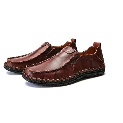 ZIXUAP Mocasines, Zapatos de Vestir de Esmoquin de Charol para Hombre con Cordones y Punta