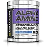 Cellucor Alpha Amino EAA & BCAA Recovery Powder, Essential & Branched Chain Amino Acids Supplement, Icy Blue Razz, 50 Servings