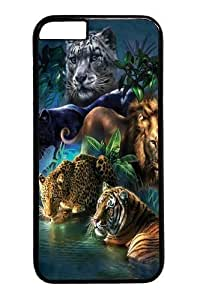 Case For Iphone 5C Cover Case and Cover -Big Jungle Cats Custom PC Hard Case For Iphone 5C Cover Black