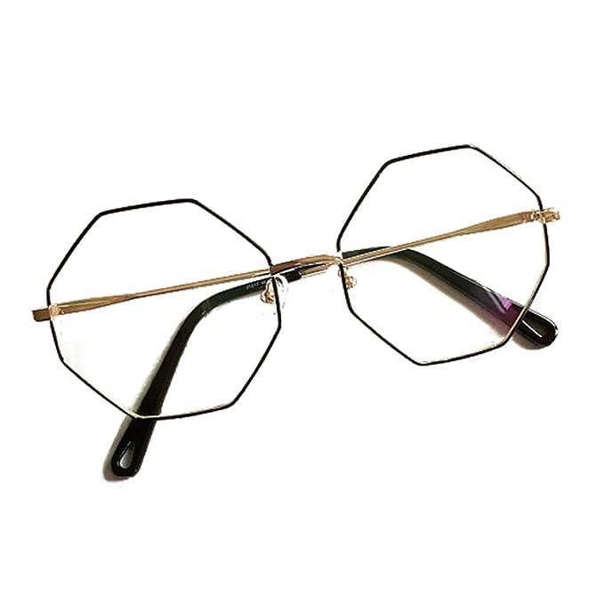 3a9ea45b2e58c5 Juleya Polygon Brille für Männer Frauen - Mode Brillen Brillengestell  1229YJJ12