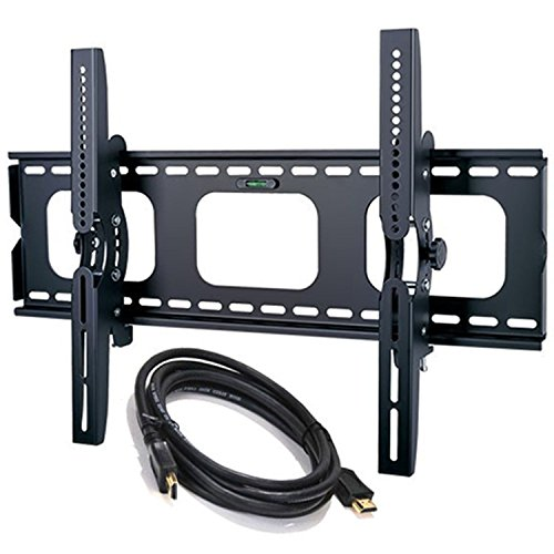 2xhome - NEW TV Wall Mount Bracket w/FREE HDMI cable – Secure Low Profile LED LCD Plasma Smart 3D WiFi Flat Panel Screen Monitor Monitor Display Large Displays - Flat Thin Ultra Slim Sleek Against the Wall Adjusting Adjustable - Up to 15 degree degrees Tilt Tilting Tiltable Heavy Duty Strong Durable Support - Mounted Mounting Home Entertainment Media Center Multimedia Furniture Family Living Room Game Gaming – Management Designer Organization Space Saver System HDTV HDMI HD Video Accessories Audio Video AV Component DVR DVD Bluray Players Cable Boxes Consoles Satellite XBox PS3 - Compatible VESA 200mm x 200mm, 400mm x 400mm , 600mm x 400mm, 700mm x 450mm, 718mm x 450mm - Universal Fit for LG Electronics Samsung Vizio Sharp TCL Toshiba Seiki Sony Sansui Sanyo Philips RCA Magnavox Panasonic JVC Insignia Hitachi Emerson Element SunBrite SunBright - Compatible Inches 65