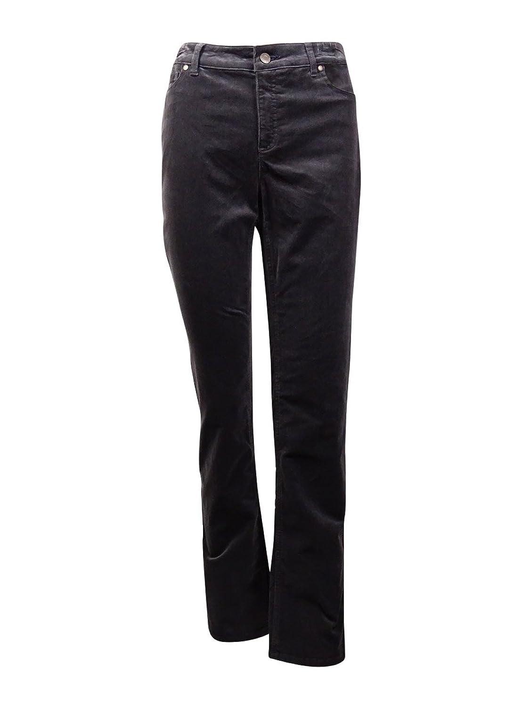 Charter Club Womens Plus Lexington Tummy Slimming Straight Leg Corduroy Pants