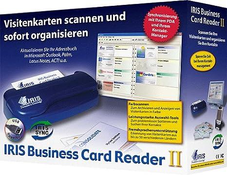 Iris Business Card Reader Ii Pc Amazon De Software