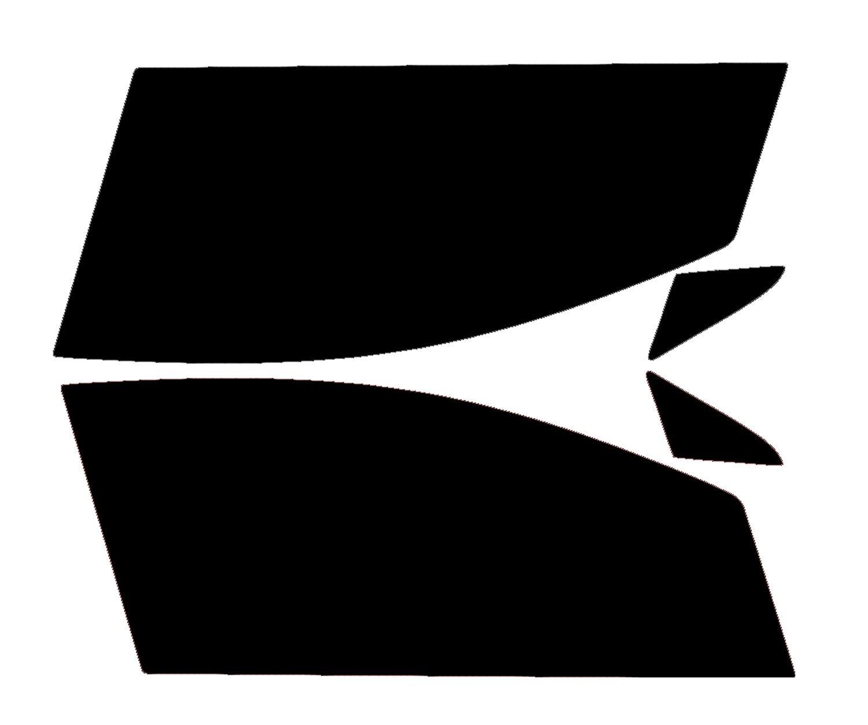 PSSC Pre Cut Front Car Window Films - Fiat Grande Punto 3 Door Hatchback 2005 to 2015 05% Very Dark Limo Tint PSSC Window Film