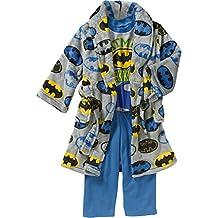 Toddler Boys 3 Piece Batman Bathrobe & Pajama Set