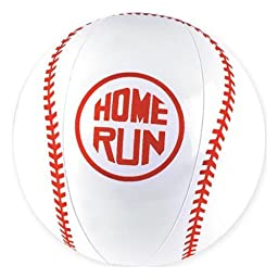 Lot Of 12 Red And White Baseball Design Beach Balls