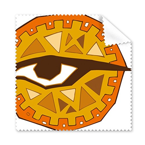 Egypt Culture レッド イエロー 目 トーテム 抽象画 イラスト パターン メガネ クロス クリーニングクロス 携帯電話 スクリーン クリーナー 5個   B06XGD7JF4