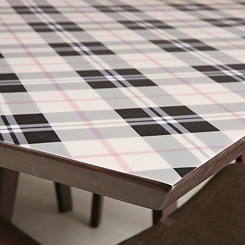 L 70x130cm E&L ZYLE Tissu de Table rectangulaire en PVC Table Basse Mat Pad,L_70x130cm