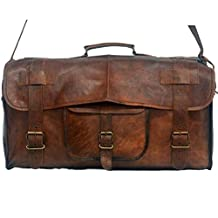 """Leather Messenger Vintage Leather Travel Bag for Men and for Women. 20"""" x 10"""" x 11"""""""
