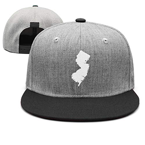 Trum Namii Unisex Wool Blend Fitted Cap New Jersey Map The Great Garden State Snapback Hats for Men