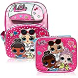 "LOL Surprise 16"" Deluxe 3D Backpack & Matching Insulated Lunch Box Bundle"