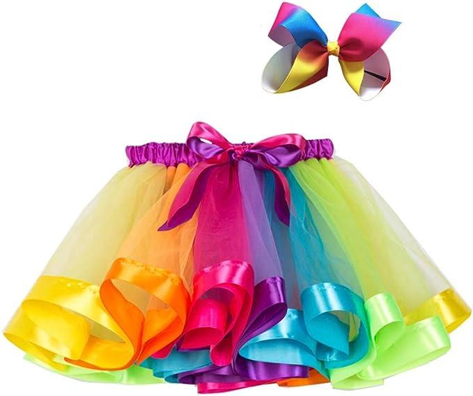 Baywell Conjunto de Falda para Niñas para Vestirse Disfraces Danza ...