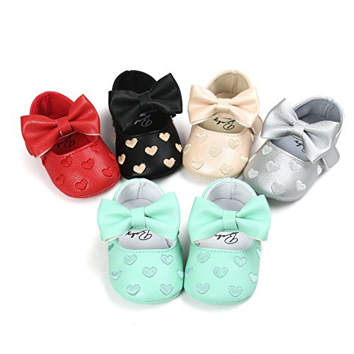Image of Royal Victory Baby Girls Shoes PU Soft Sole Bow Prewalker 0-18 Months