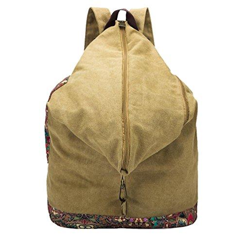 Chang Spent Canvas Women's College Personalized Travel Bag Shoulder Bag Backpack Bag (optional Color), Blue Brown