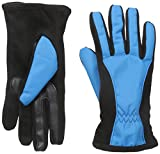 Isotoner Women's Matrix Nylon smarTouch Gloves with Piping, Dynasty Blue, X-Large
