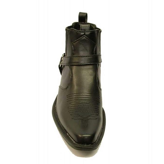 US Brass - Botas de cowboy al tobillo modelo Eastwood: Amazon.es: Zapatos y complementos
