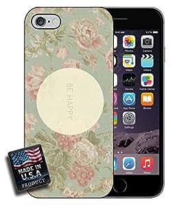 Be Happy Vintage Floral Pink Flowers iPhone 6 Hard Case
