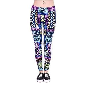 Kukubird Vari Modelli di Stampa Fitness da Donna Leggings da Palestra Running Yoga Pilates Pantaloni Aderenti Collant Taglia 8 A 12 Estensibile