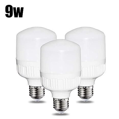 Bombillas LED de 9 W T60 – 3 paquetes – E27 / Edison Tapa de rosca