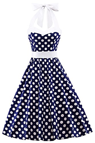 80s Polka Dot Dress - 3