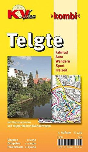 Telgte und Umgebung: 1:12.500 Stadtplan mit Freizeitkarte 1:25.000 inkl. Radrouten und Wanderwege (KVplan Münsterland-Region)