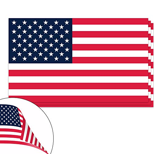 Custom Static Cling Window Decals - Classic Biker Gear American Flag Vinyl Decals - Double Sided Apply Inside or Outside - 3