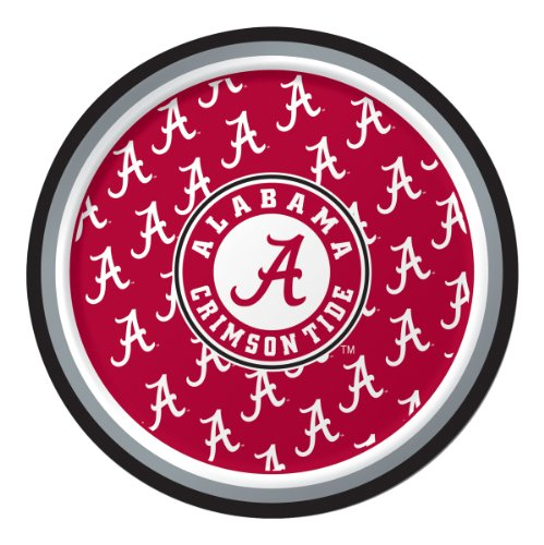 Chip Alabama Game Day - Creative Converting Alabama Crimson Tide Dessert Paper Plates (8 Count)