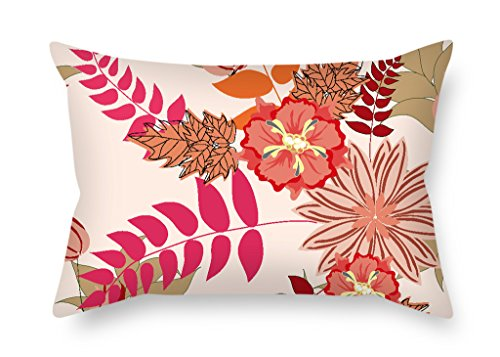 PILLO 12 X 20 Inches / 30 By 50 Cm Flower Pillow Cases ,twic