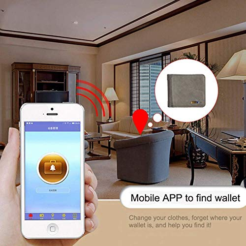 Di Da C Bluetooth Posizione Intelligente Vie Portafoglio Ios Compatibile Gps card Short Borsa Antifurto Due Con Ymxljj Android Multi perso Ricerca E Wallet Business Anti Uomo A HAEFwq