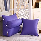 TIANTA-Cushion Cotton canvas triangular three-dimensional pillow bedside backrest detachable washable window cushions neck adjustable waist cushions ( Color : G , Size : 452250cm )