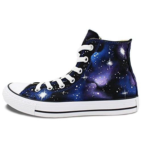 Wen Design Originale Galaxy Nebulosa Scarpe Dipinte A Mano Unisex Scarpe Da Ginnastica Per Adulti