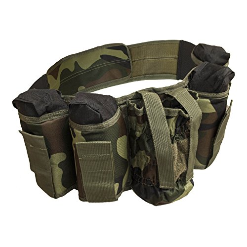 ALEKO PBAH2C Paintball Harness Belt Heavy Duty, Smooth Original Camouflage Green Design Tank Harness Camo